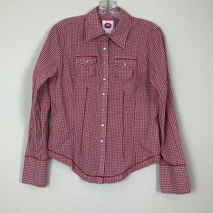 Fiorrucci Juniors Red Checkered Fitted Button Down